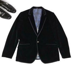 Ted Baker London | Black Velvet Tuxedo Jacket 44